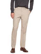 5840-2 Banana Republic Mens Khaki Beige Non Iron Slim Fit Dress Pants 38W x 32L