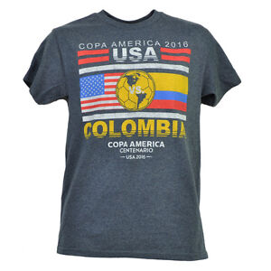 Copa America Centenario USA 2016 United States Colombia Tshirt Tee Futbol Soccer