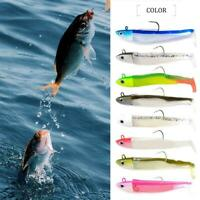 FTK black minnow jig head fishing lure Zand seabass boat B shad ass code J6R1