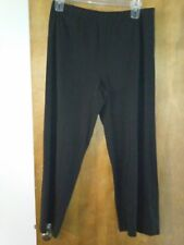 Just My Size 1X Black Relaxed Fit Elastic Waist Pull On Pants
