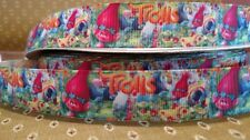 "7/8-1"" Grosgrain Ribbon Trolls Characters Hair Bows Crafts Fast Shipping"