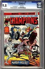 Champions 4 CGC 9.8 White Ghost Rider Black Widow Cover