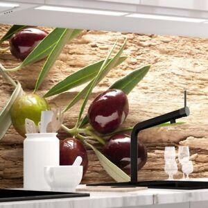 Küchenrückwand - OLIVEN - 1.5mm Hart-Material, jeder Untergrund ist möglich
