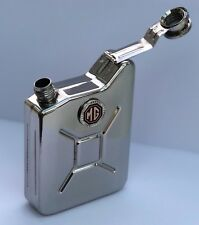 MG Car Petrol Can / Jerry Can Stainless Steel Drinking Hip Flask - Black + Red