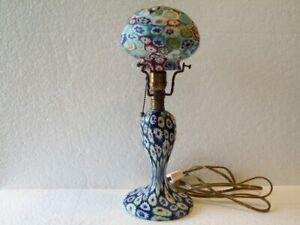 WoW Antique MILLEFIORI Murano Glass WORKING LAMP RaRe  BEAUTIFUL 1920's - 30's !