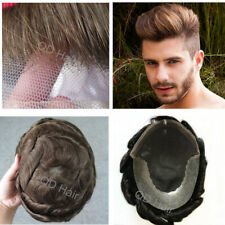 Human Hair Toupee Hairpieces Lace Front Skin Replacement System For Men Toupees