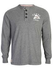 Cotton Long Sleeve Henley Big & Tall T-Shirts for Men