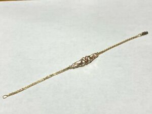 14kt Rose Yellow Gold Unicorn Heart Bracelet *