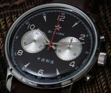 "Seagull 1963 Airforce watch, ""Panda"" dual, 42mm"