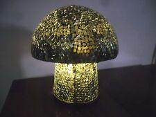 Balinese Magic Mushroom Mosaic Lamp (gold & black tones)