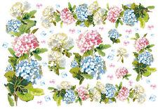 Papier de riz DFS047 Fleur Hortensia Rice Paper Flowers Hydrangea serviette