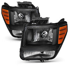 For 07-11 Dodge Nitro [Factory Style] Black Housing Headlight Replacement Lamp