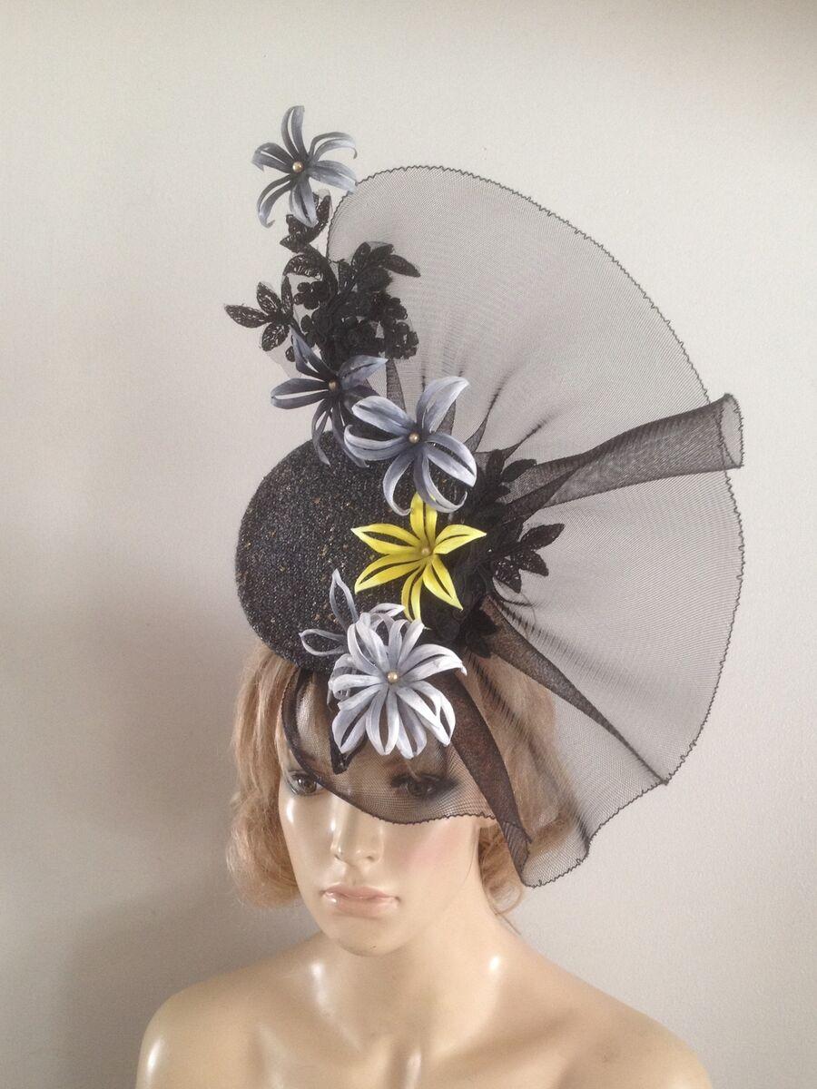 0199f45817722 Black Wedding Hats Ebay