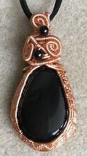 Black Onyx  Gemstone Cabochon Pendant Necklace