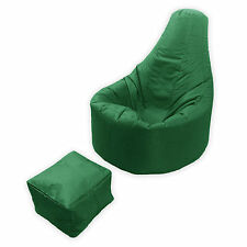 Large Bean Bag Footstool Gamer Beanbag Adult Outdoor Gaming Garden Big Arm Chair British Racing Green