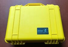 Pelican 1500 Watertight Hard Case with Foam Insert - Yellow #1500 - never used