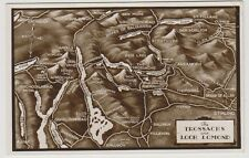 Stirlingshire postcard - The Trossachs and Loch Lomond (Map) - RP