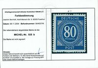 ALLIIERTE 1946, Mi. 935 b **, Farbabart mit FA ARGE!! Tadellos! Mi. 200,--!!