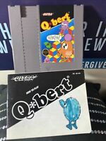 NES Q*bert (Qbert) game cartridge and instruction manual, cleaned and tested!