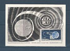 carte   1er jour  télécommunication spaciale Pleumeur Bodou    1962
