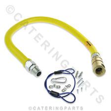 1000mm LUNGO flessibile rilascio rapido tipo di connettore giallo tubo del gas