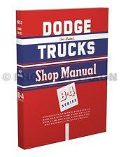 1953 Dodge B4 Truck Shop Manual Pickup Panel and Big Truck Repair Service B 4