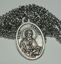 "St Jerome Holy Medal on 24"" Chain - Translators, Archeologists & Bible Scholars"