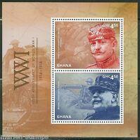 GHANA 2014 WORLD WAR I MARSHAL JOFFRE & HELMUTH von MOLTKE S/S MINT NH
