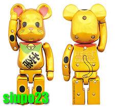 Medicom 200% Bearbrick ~ Bandai Chogokin Be@rbrick Maneki Neko Lucky Cat Gold