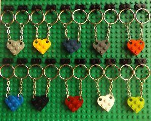 LEGO Novelty Keyring Key Chain Love Heart Ideal Present For a Lego Fan Part 3176