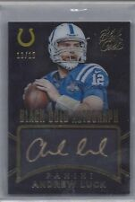 ANDREW LUCK 2014 PANINI BLACK GOLD AUTOGRAPH ON CARD GOLD INK AUTO #D 13/15