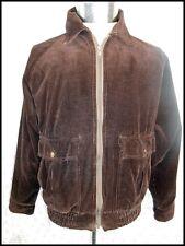 Vintage 70s Target Brand Dark Brown Cotton Corduroy Jacket Zip Front 95cm Chest
