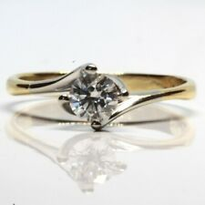 0.50ct Solitaire Diamond Ring with 18ct White Gold and Yellow Gold Band