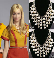 Stylish Women Girls Caroline Same Design Pearl Multilayer Necklace