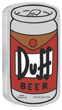 2019 The Simpsons Duff Beer..1oz $1 Silver 99.99% Proof Can Coin W/COA!!!