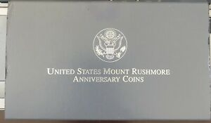1991-S MOUNT RUSHMORE Silver Dollar Proof with Box and  COA .