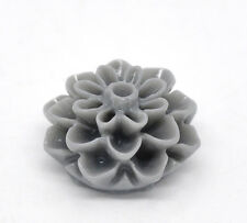 5x Resin Harz Blume grau 8x16mm Basteln Blume Grau DIY