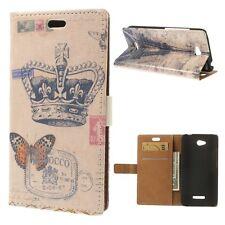 custodia cover flip libro STAND magnetica farfalla PARIS SLIM PER HTC Desire 616