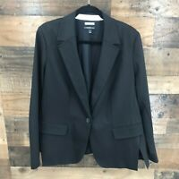 New Lane Bryant The Modernist Collection Women's Black Single Button Blazer
