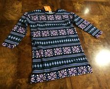 GYMBOREE Girls Long Sleeved Fleece Winter Dress Size S ( 5-6 ) $44.95