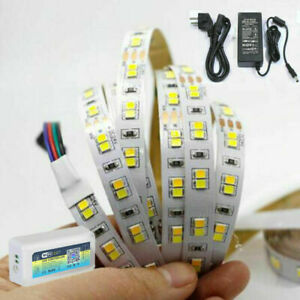 5m 10m CW/WW Dual White CCT LED Strip Light WIFI SMD 2835 DC 24V tape lamp