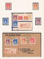 Nauru - 1937 -- KGVI Coronation Reg. FDC's & Stamps - SC 35-38 [SG 44-47] 20