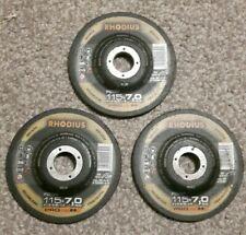 Angle grinder discs x3 rhodius 115 x 7 x 22,23 rs38 inox metal cutting DIY