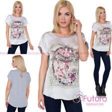 Short Sleeve Sleeve Geometric Tops & Shirts for Women