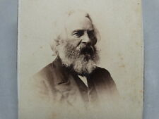 CDV PHOTOGRAPH portrait HENRY WADSWORTH LONGFELLOW AMERICAN POET taken from life
