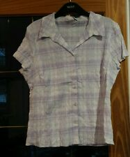 Lilac yellow white and light blue ruffle shirt from George size 18