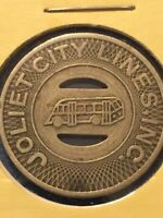 Token Joliet City Lines Inc. Good For One Fare Coin Tokens Collectable P16