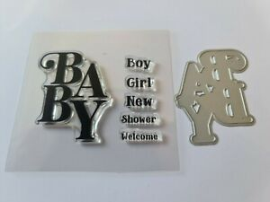 Crafter's Companion Baby Die Cutter & Stamp Set  Lightly Used