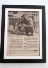 GINGER BAKER (CREAM) Ludwig Drums 1976 *ORIGINAL *POSTER *AD *FRAMED* Advert