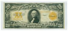 1922 $20 GOLD Certificate Nice VF + Neat Serial Number, Payable In Gold Coin